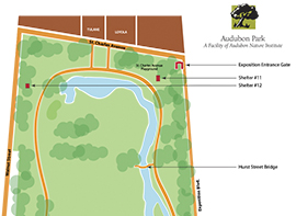 Audubon Park Map