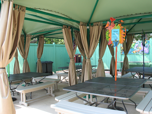 Photo Of A Picnic Pavilion for Kids Birthday Parties In New Orleans - Audubon Nature Institute
