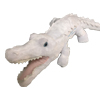 White alligator plush toy.