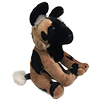 African Painted Dog pup plush toy.