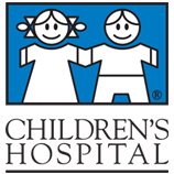 Children's Hospital logo in blue and black.