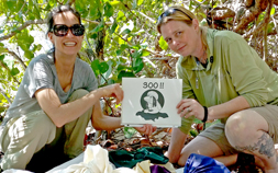 Audubon Zoo Senior Keeper Melanie Litton and Animal Hospital Manager Melissa Tomingas participate in the Jamaican Iguana Recovery Program.
