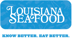 Louisiana Seafood logo. Know Better. Eat Better.