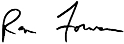Ron Forman signature.