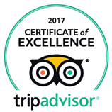 Trip Advisor Certificate of Excellence 2017.