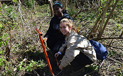 2 youths volunteer at the Audubon Louisiana Nature Center as part of the Youth Conservation Corps, YCC Nola.