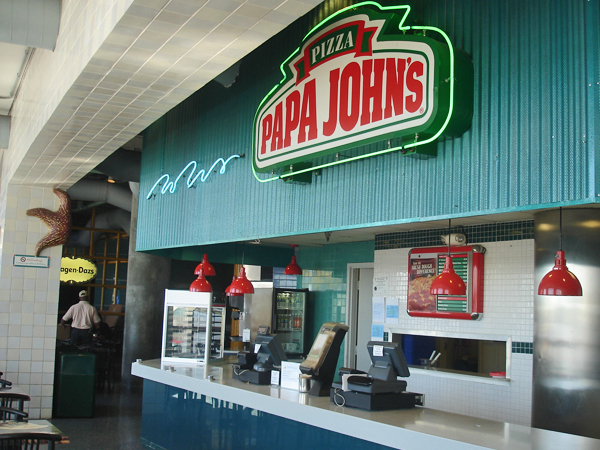 View of the Papa John's Pizza Concession in the Audubon Aquarium of the Americas.