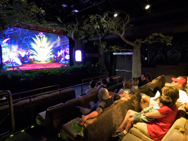 View inside the Terminix Immersion Theater in the Audubon Butterfly Garden and Insectarium.