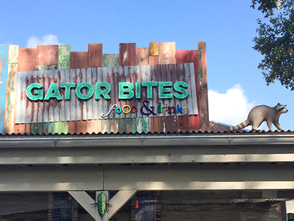 View of the Gator Bites concession area in Cool Zoo at the Audubon Zoo.