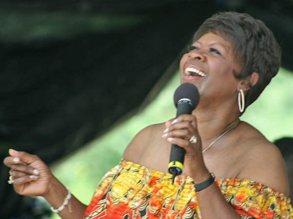 New Orleans singer, Irma Thomas, performs at the Mother's Day Celebration at Audubon Zoo.
