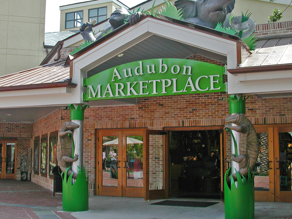 Outside view of the Audubon Marketplace shop located in the Audubon Zoo.