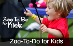 Icon for Zoo-To-Do for Kids, photo includes a small boy in a red shirt.